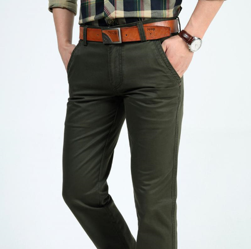 Men's military pants (army green).