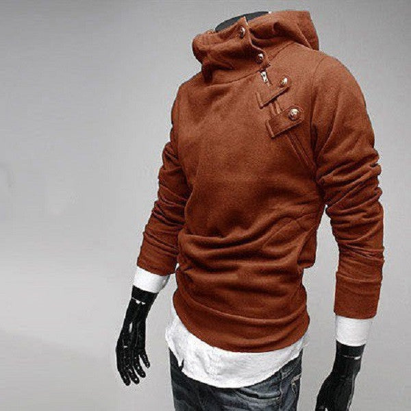 Insulated fashionable mens sweatshirt ( coffee ).