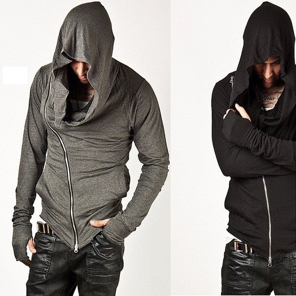 Hoodies youth zippers (grey).