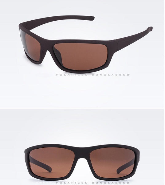 Men's polarized sunglasses (brown brown).