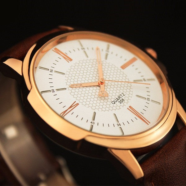 Men's quartz Luxury watch rose gold (4 types) .
