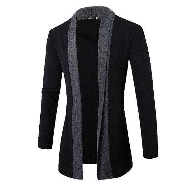 Men's jacket made of wool, English style (dark grey).