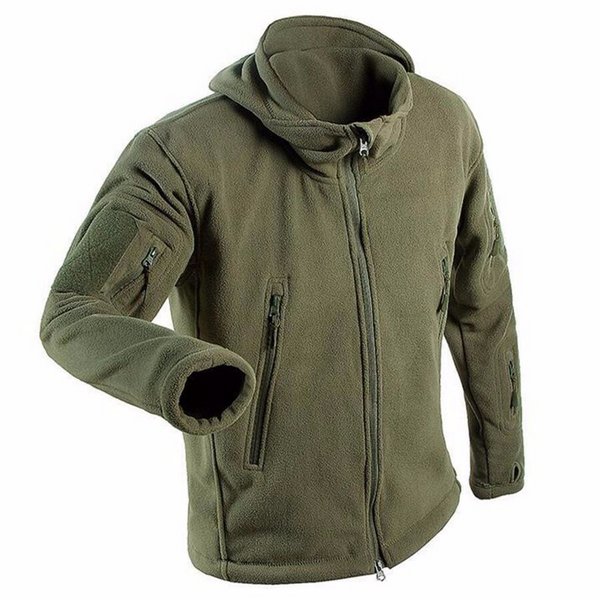 Men's jacket with pockets (green).