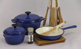 Fine Living - Lifestyle Cast Iron Set - 5pc - Blue