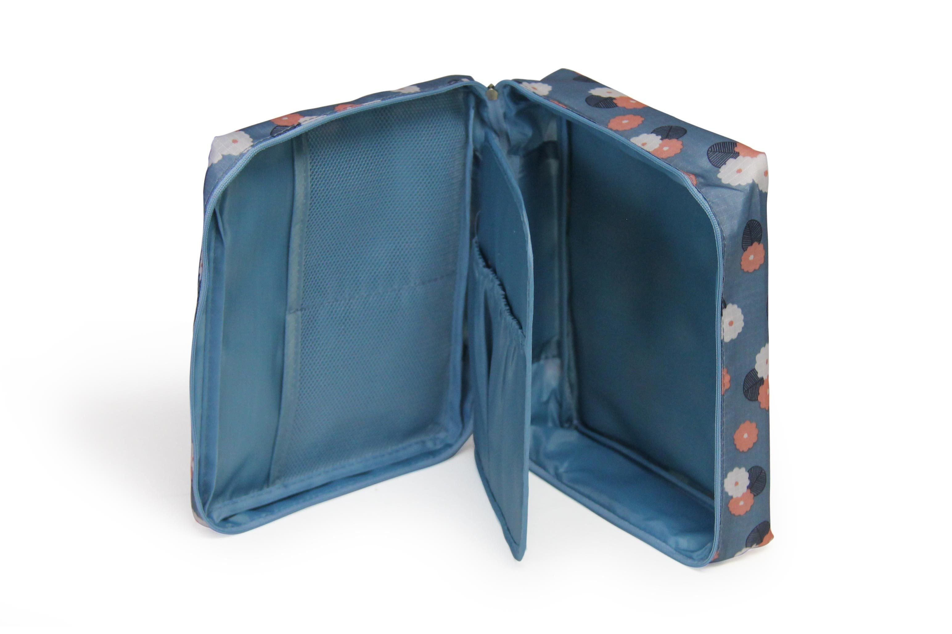 Cosmetic Case - Blue Flowers