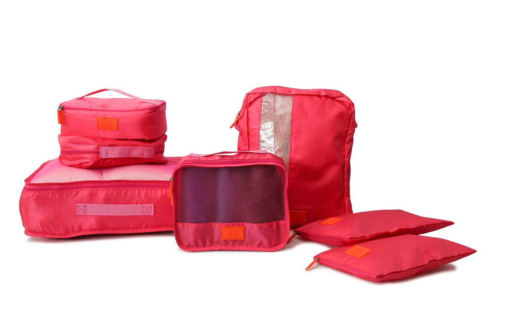 Medoodi 7pc Travel Organiser Set - Pink