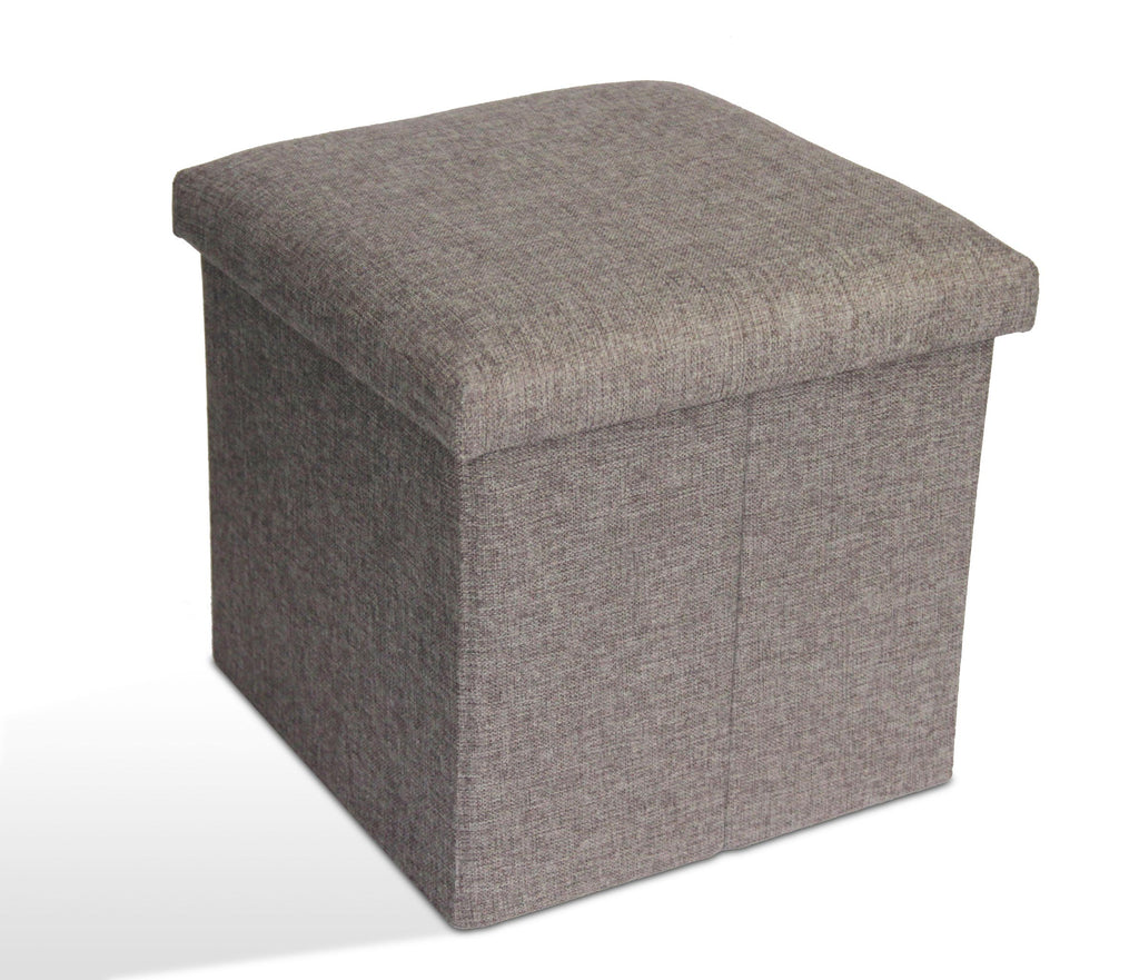 Storage Ottoman Single - Light Grey
