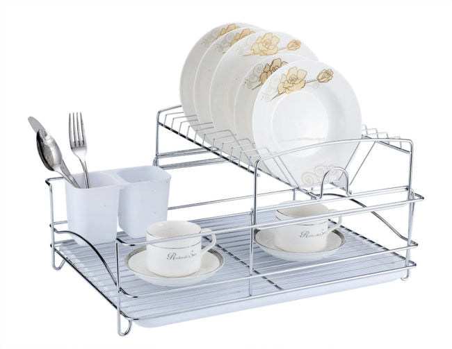 Fine Living Balcony Dish rack – White