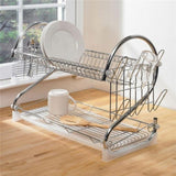 Fine Living Double Layer Dishrack – Chrome