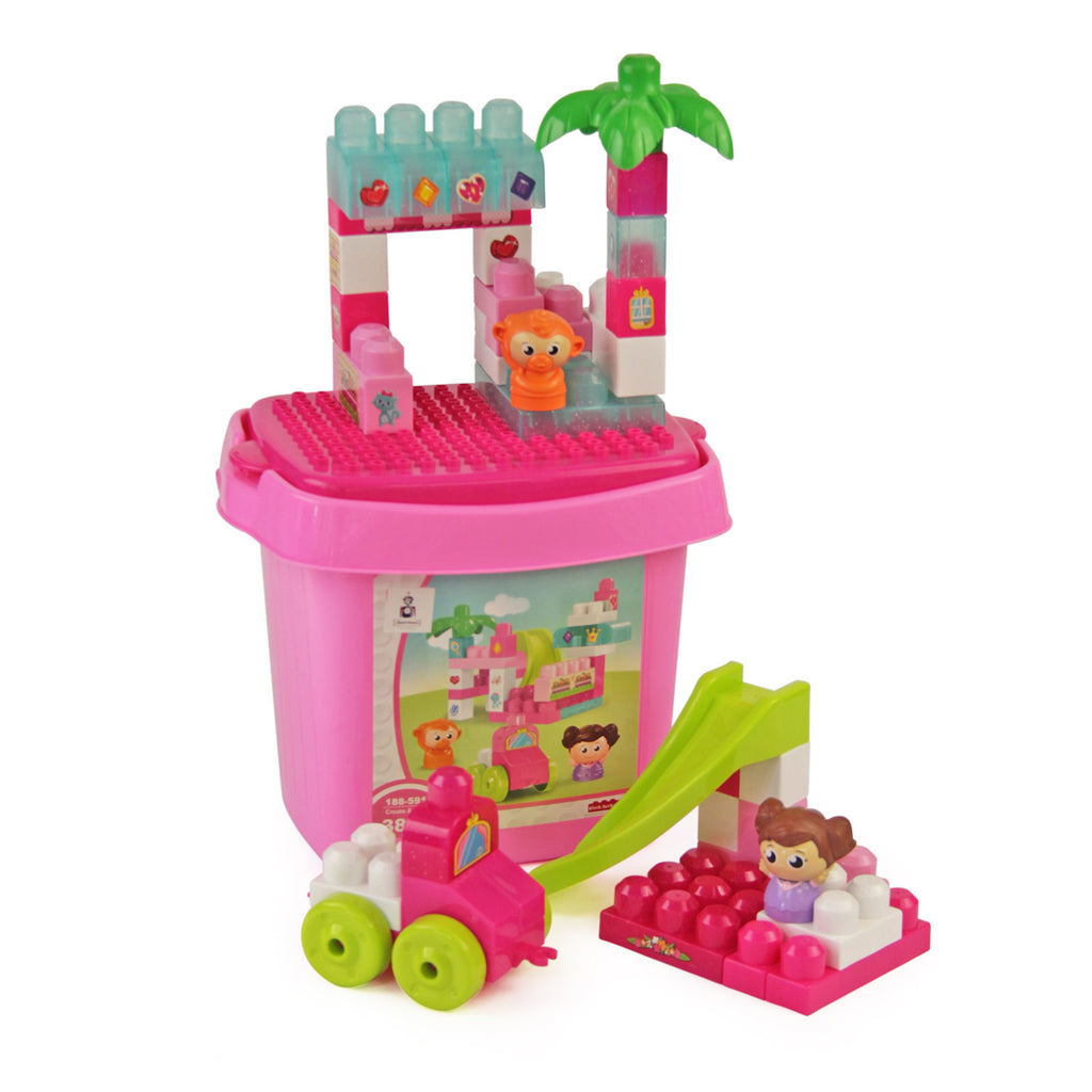 Jeronimo Block Bucket - Pink 38pc