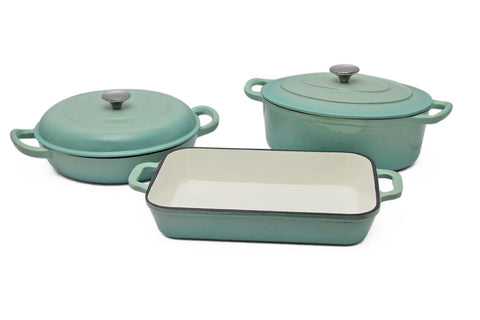 Finery - Mason Cast Iron 5pc Set - Mint <p> <b> Hurry - only 8 left! </b>