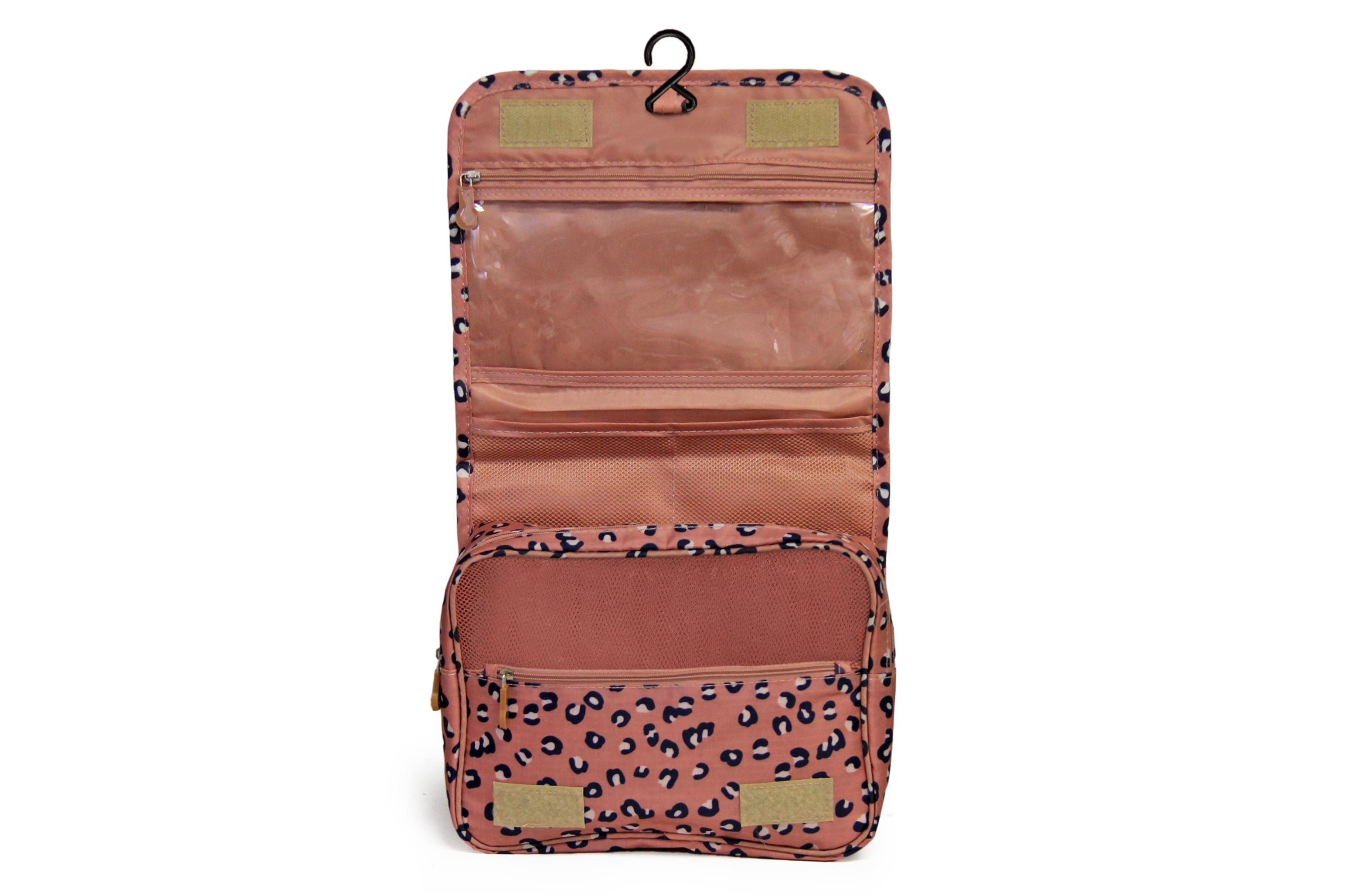 Toiletry Bag - Pink Leopard