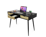 Fine Living - Abby Desk - Black - 3 Draws