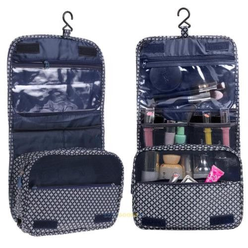 Hanging Toiletry Bag - Navy Star
