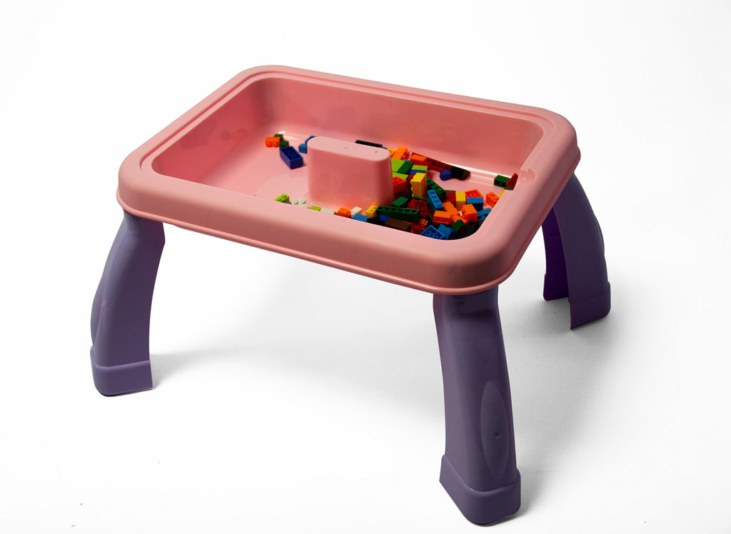 Jeronimo - 2-in-1 Drawing & Building Table - Purpl