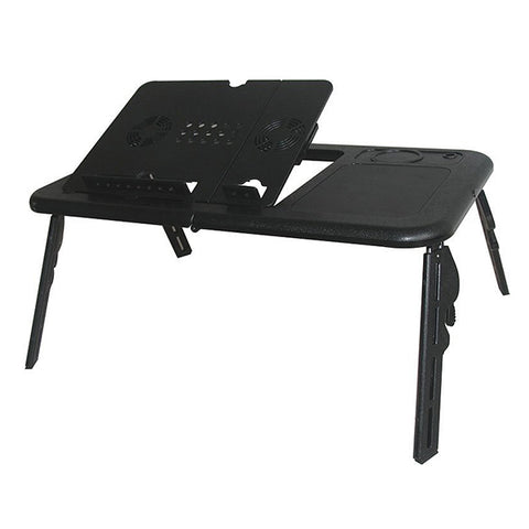 UNBOXED PRODUCT- E Table Laptop cooling table- Black