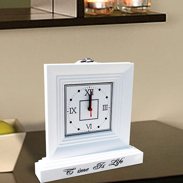 Clock Wooden White