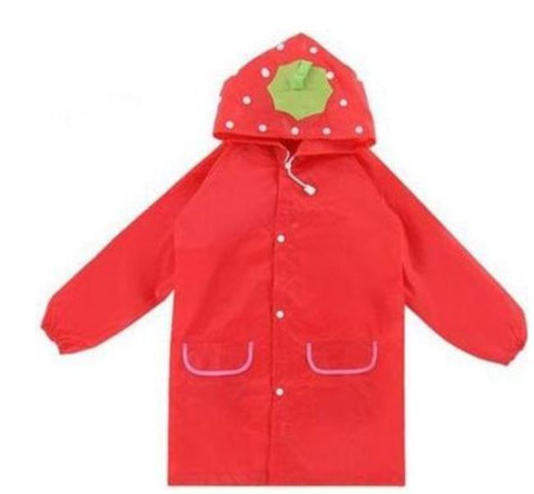 Kids Raincoat Red Strawberry