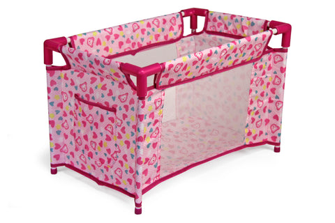 Jeronimo Doll Camp Cot - Pink Floral