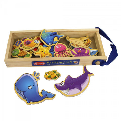 Puzzle Wooden Magnetic Sea World Marine - Kids Toddlers Toys Gifts