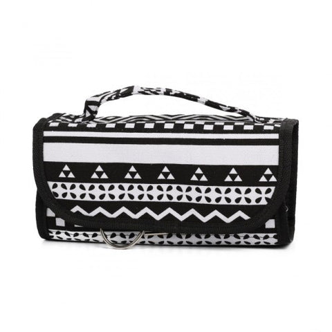 Cosmetic Roll-up - Black Aztec