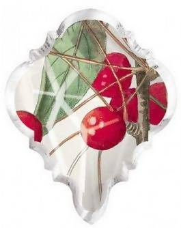 Christmas Decor Crystal Glass Magnet OR Ornament - cherry, printed glass
