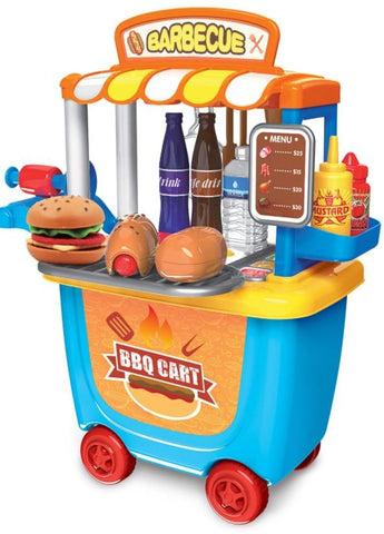 BBQ Cart on Wheels - Kids Toys Pretend Play Sets - Gifts