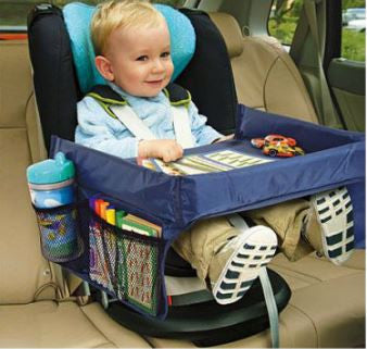 Toy Drive Along Steering Wheel AND Kids Travel And Snack Tray COMBO