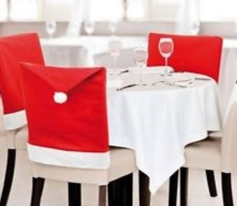 Christmas Chairback Covers Decor - Table Setting Chair Covers
