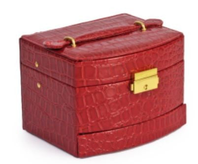 Jewelry Box Case Red Jewellery Accessories Travel Storage Organiser - Gifts