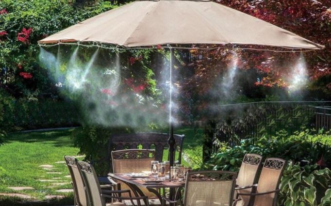 Watering Spraying Misting Cooling Kit 10M Patio Outdoors Gardens