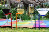 Glass Holders Hands Free - Drinks Wine - Beach Party Picnic and Gifts