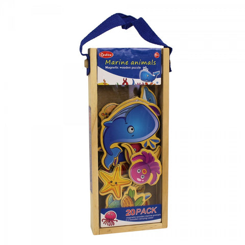 Educational Puzzle Wooden Magnetic Sea World Marine - Kids Toddlers Toys Gifts