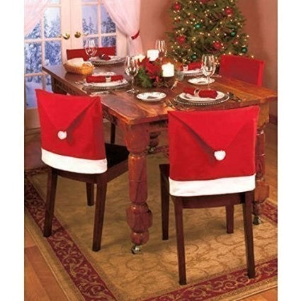 Chairback Covers Christmas Decor Get 4 - Table Setting Chair Covers