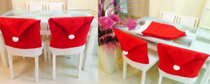 Christmas Decor Chair Covers - Table Setting Chair Covers