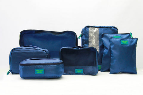Medoodi 7pc Travel Organiser Set - Navy