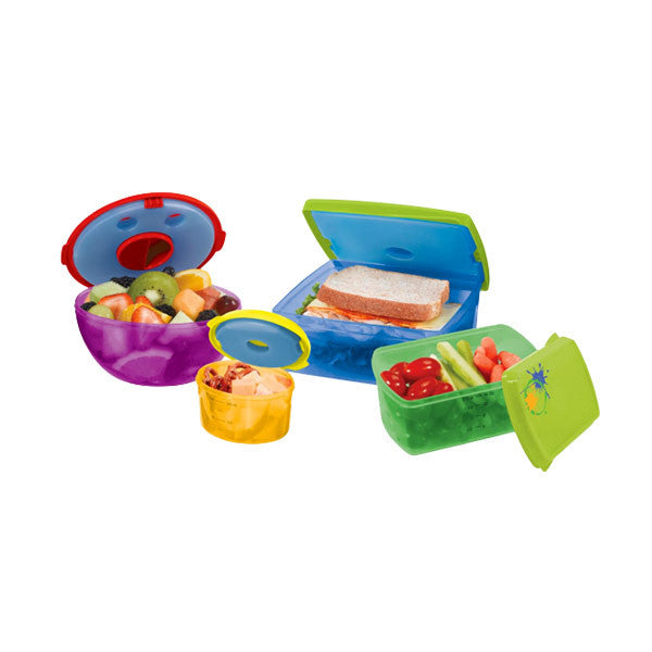 13pc Healthy Lunch Kit Set - Fruit & Salad Pod REMOVABLE Ice Packs