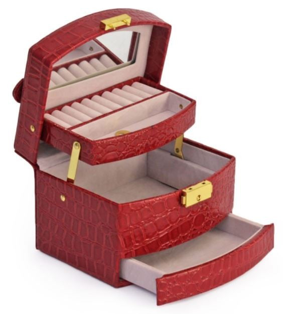 Jewellery Case Red Jewelry Accessories Storage Organiser - Gifts