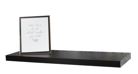Juno Shelves - Floating Medium - Black Wood Grain