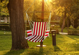 Fine Living - Hammock Chair - Red/White Stripe