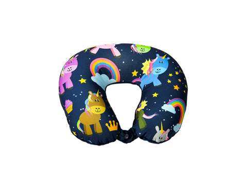 Medoodi Neck Cushion-Multicolour Unicorn & Rainbow