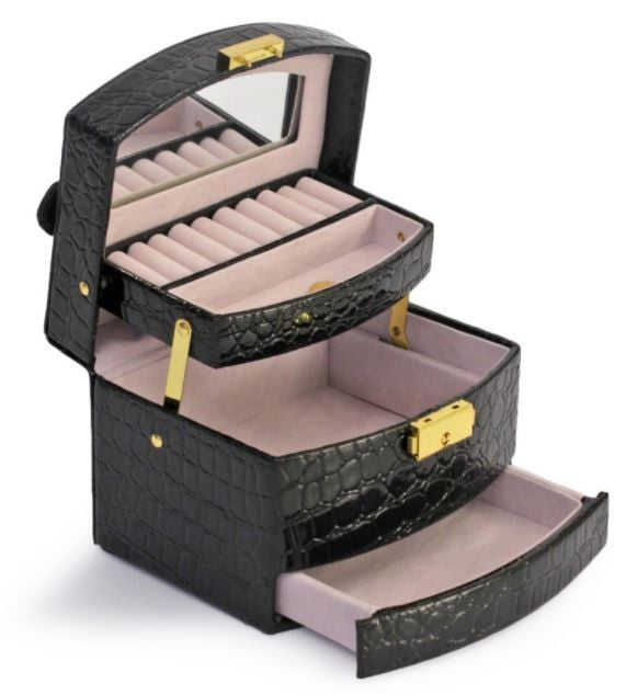 Jewellery Case Black - Jewelry and Accessories Storage Organiser