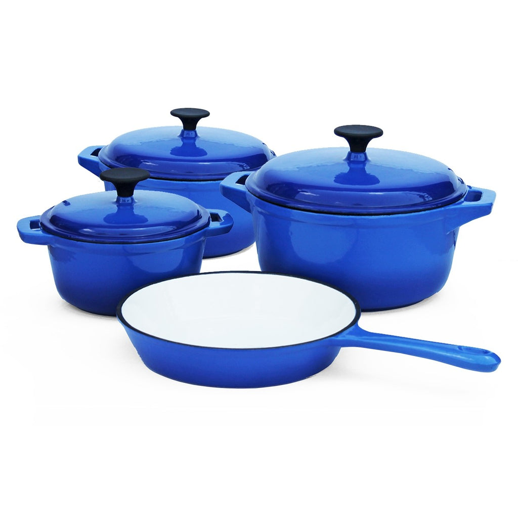Cast Iron - 7 Piece - Double blue