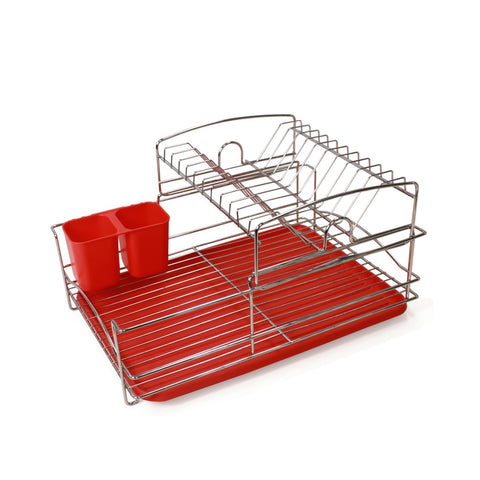 Fine Living Balcony Dish rack – Red