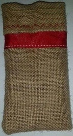 Christmas Decor - Hessian Cutlery Pouch