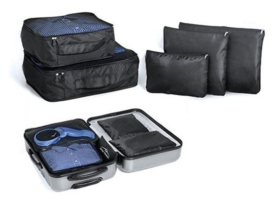 Bags Pouches Organiser Set 5 Piece Black