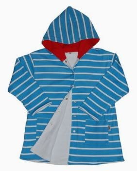 Beach Gown Kids - Hooded - Blue and Red 4-5 Years