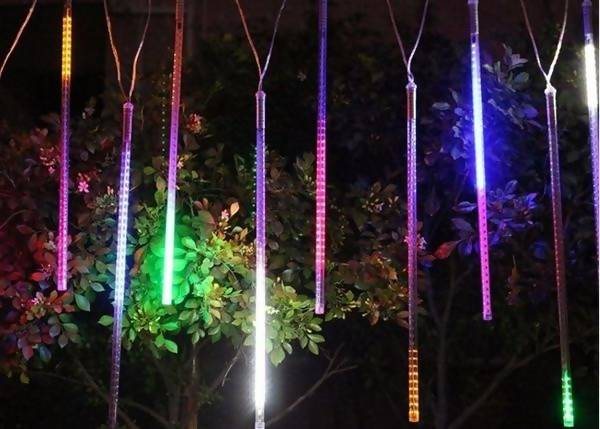 Christmas Festive Lights Meteor LED Digital Snow Shower Icicle Light Set