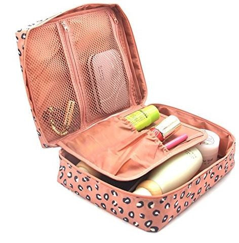 Cosmetic Case - Pink Leopard
