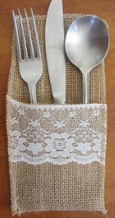 Christmas Cutlery Pouches Table Setting Decor